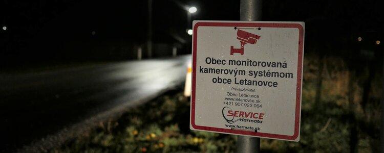 Zavedenie kamerového systému v obci Letanovce - Ilustračná fotografia