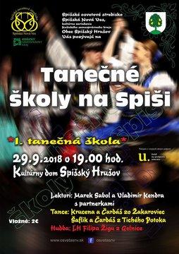 Tanečné školy na Spiši - Plagát