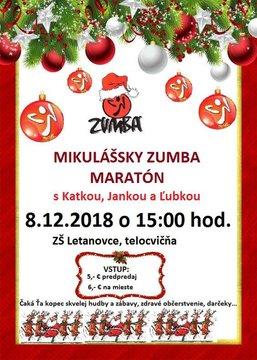 Mikulášsky zumba maratón - Plagát
