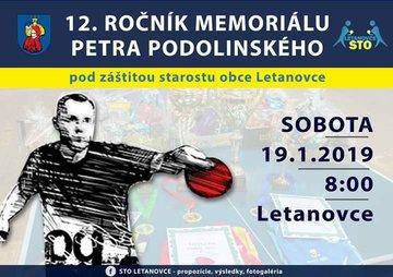 12. Memoriál Petra Podolinského - Plagát