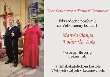 Veľkonočný koncert Maroša Banga - Plagát